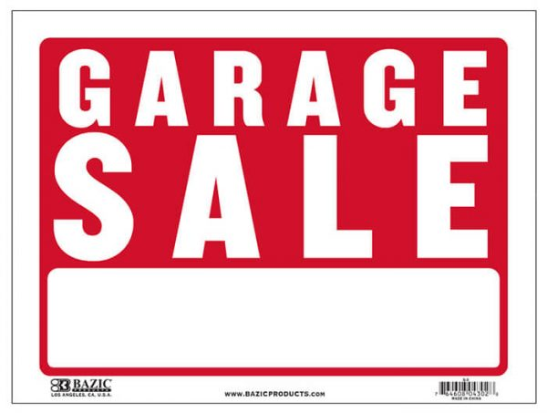 """Garage Sale"" Sign S-3"