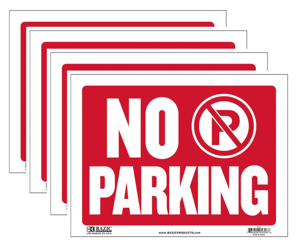 No Parking Sign 4 Pack S-14