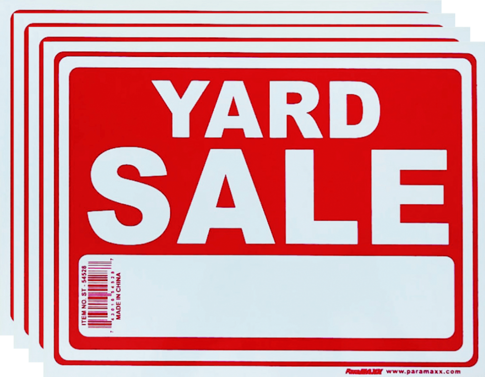 signs Yard Sale Sign 4pk