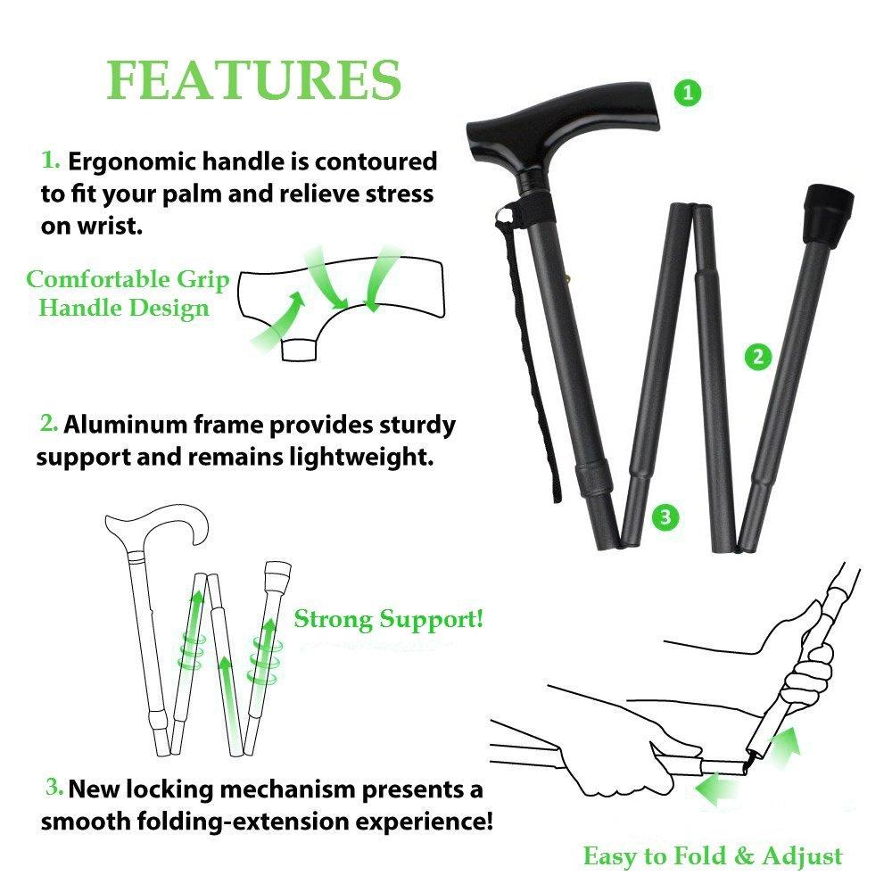 cane foldup features