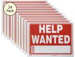 Help Wanted Sign 24 Pack S-20