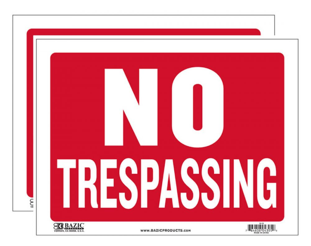 No Trespassing Sign 2 Pack S-13