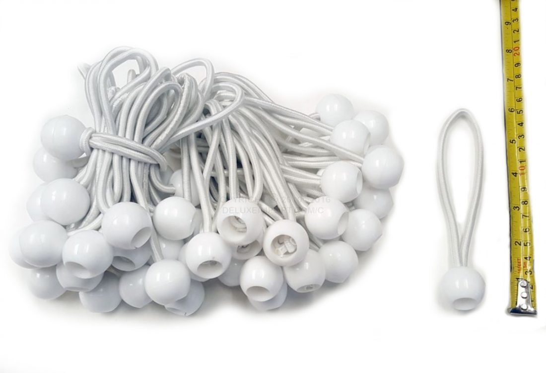 BUNGEE CORD BALL 6IN WHITE 20161221
