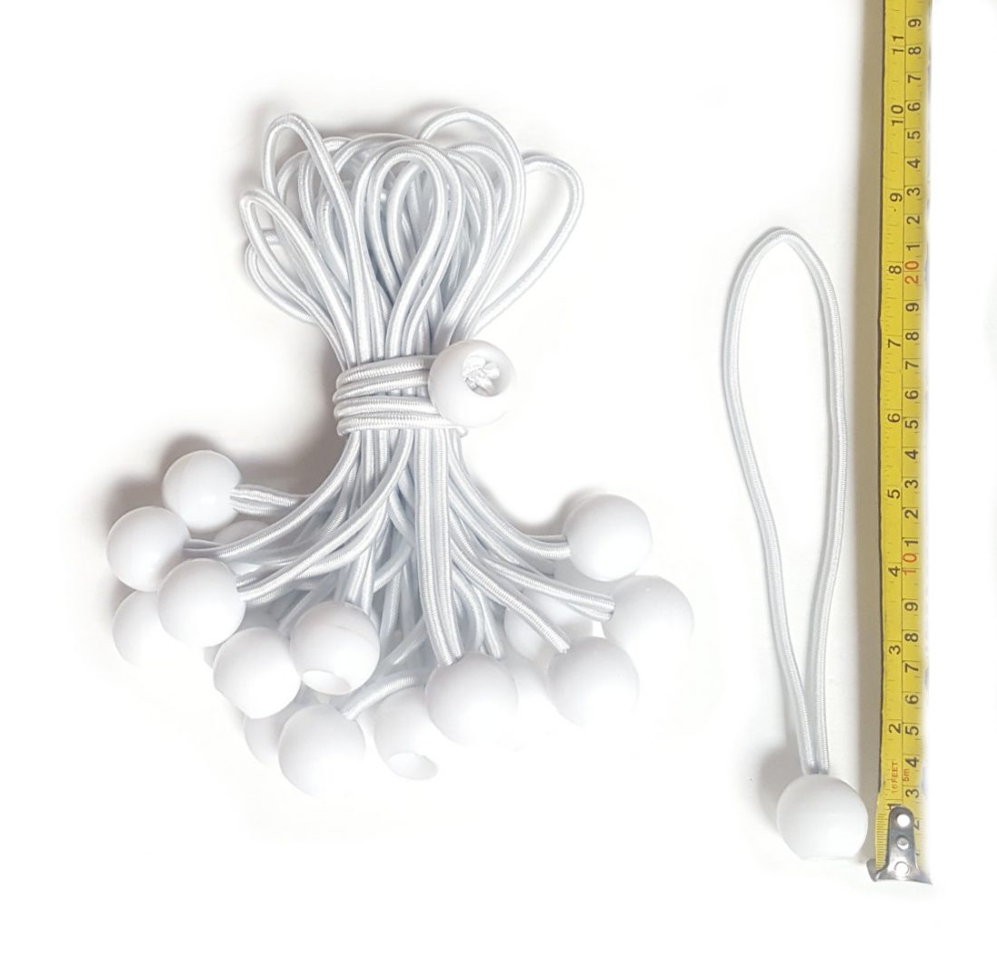 BUNGEE CORD BALL 9IN WHITE 20161229