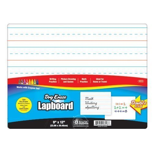 "2 Pk, 9"" X 12"" Double Sided Dry Erase Lap Board"
