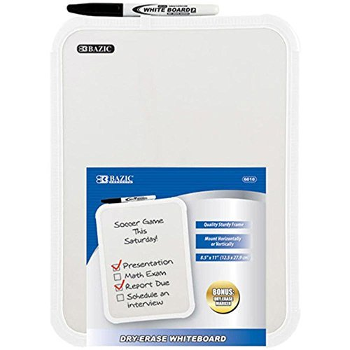 2 Pk, Dry-Erase Whiteboard Including a Dry Erase Marker - 8.5 X 11 Inch