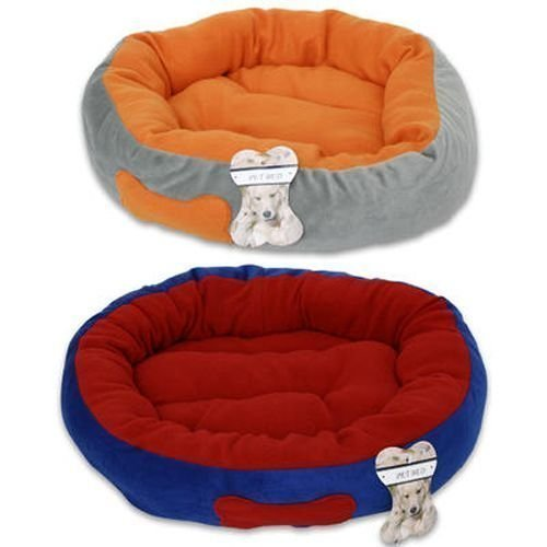 "Fleece Fabric Donut Pet Bed For Dogs & Cats (21"" diameter)"