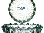 """6.5"""" Glass Crystal Round Design Smoking Ashtray Bowl or for Appetizers & Nuts & H'orderves / Hors-d'oeuvre"""