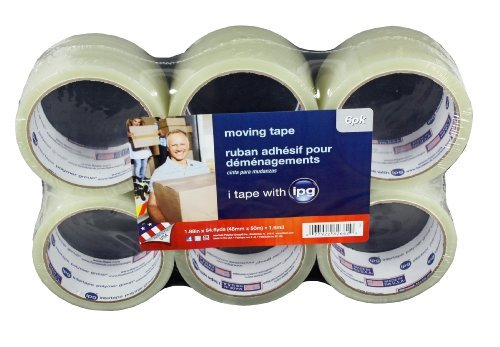 89263 Carton Sealing Tape 1.9-Inches x 54.6 Yards, 1.6-Mil, 6-Pack, Clear