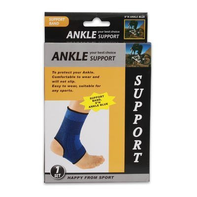 "ANKLE SUPPORT BAND 9"" ELASTIC BLUE"