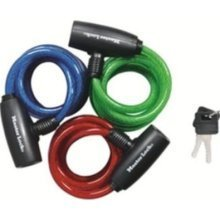 """Bicycle Cable Lock with Key - 36"""" Cable - RED"""
