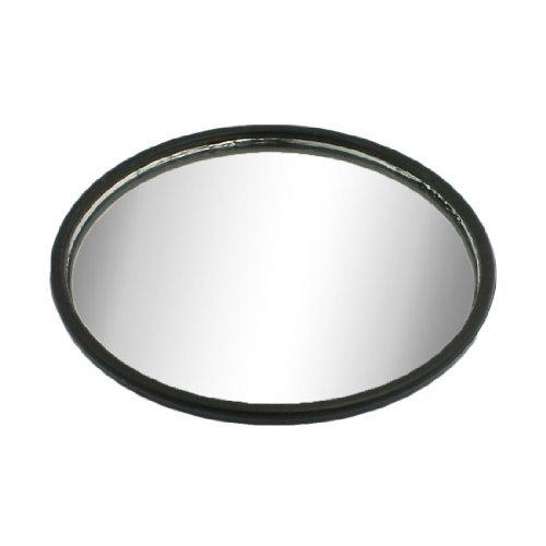 Car Round Convex Wide Angle Rear View Blind Spot Mirror Black 3""