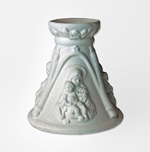 Ceramic Figurines Unpainted With Candle Have Fun Paint This Figurines As You Like Baptism First Communion Wedding
