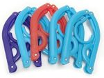 DLUX Pack Of 10(Light Blue, Red and Purple) Foldable Plastic Clothes With Anti-slip Grooves Travel Hangers