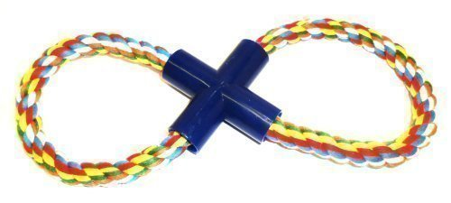 DLUX Pet Toys for Chewers, Big Dog, Large Figure 8 Tough Rope