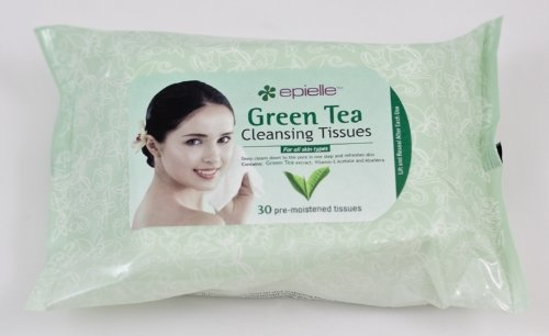 Epielle 30 pre-moistened Green Tea Cleansing Tissues