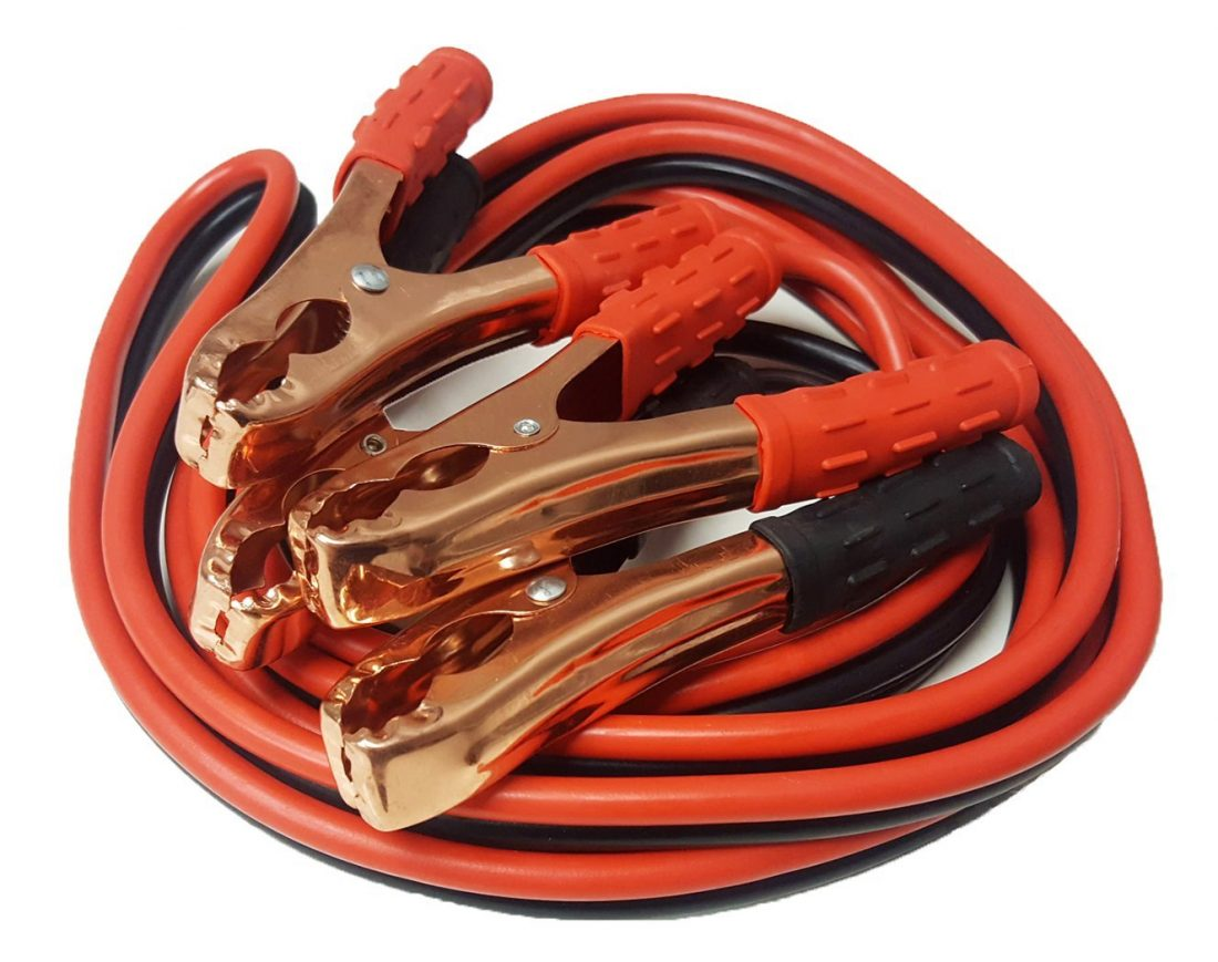 Jumper Cables No Tangle Booster 12 Foot Long, 10 Gauge, 200 Amp, With Free Travel Carrying Case