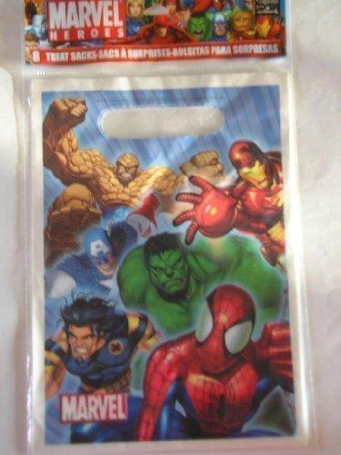 Spiderman Heroes Treat Goodie Party Bags ~ 8 Count