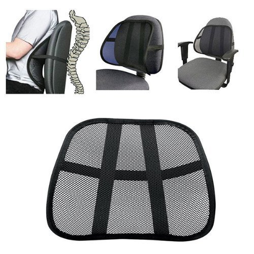 DLUX Ergonomic Lumbar Mesh Back Support With Thicker Strap Than Any Other Mesh Lumbar Support ( For Any Chair)