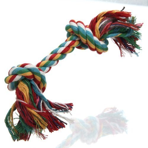 Multicolor Dog Pet Cotton Braided Bone Rope Chew Knot Toy Hot