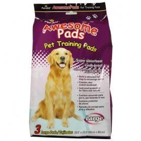 Pet-Aid Awesome Pads - Puppy Dog Training Pads Large 3 Count, Super absorbent & leak proof