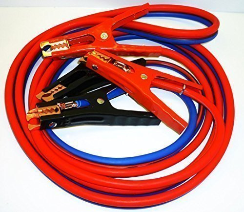 SUPER HEAVY DUTY 500 amp 6 gauge No Tangle Battery Booster cables 12 feet with FREE travel case Jumper Cables Extra long 12ft