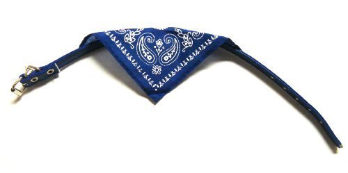 "PETS BANDANA COLLAR Western Cowboy ADJUSTABLE 15""x1/2"" w/Leash Hook (random assorted color)"