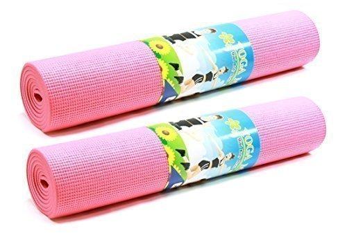 "Excercise Yoga Mat 1/4"" Thick, 68x24"", High Density Non-Slippery Foam"