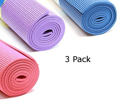 "Excercise Yoga Mat 1/4"" Thick, 68x24"", High Density Non-Slippery Foam"