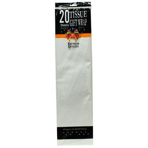 "White Tissue Paper 20"" X 26"" 20 Sheets (72 Pieces)"
