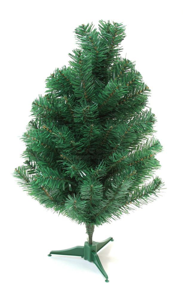DLUX Christmas Trees Artificial Charlie Pine - Unlit (Green 2 ft)