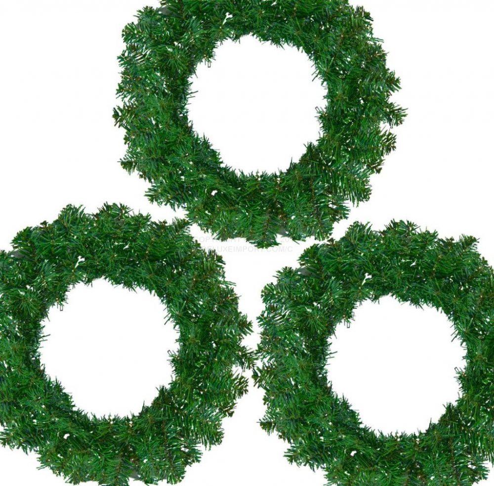 XMAS WREATH GREEN DLX355 ChristmasWreathGreenDLUX1010a23